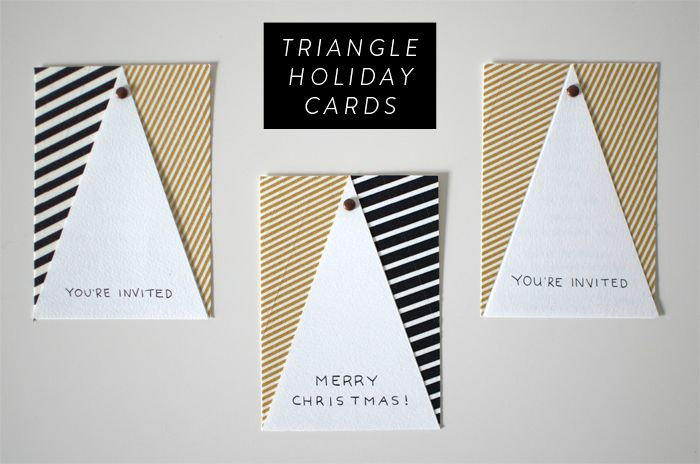 DIY Modern Holiday Greeting Cards » The Sweet Beast