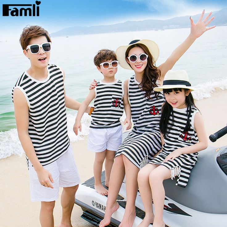 1pc Family Dress Clothes Mother Daughter Summer Fashion Dress Father Son…