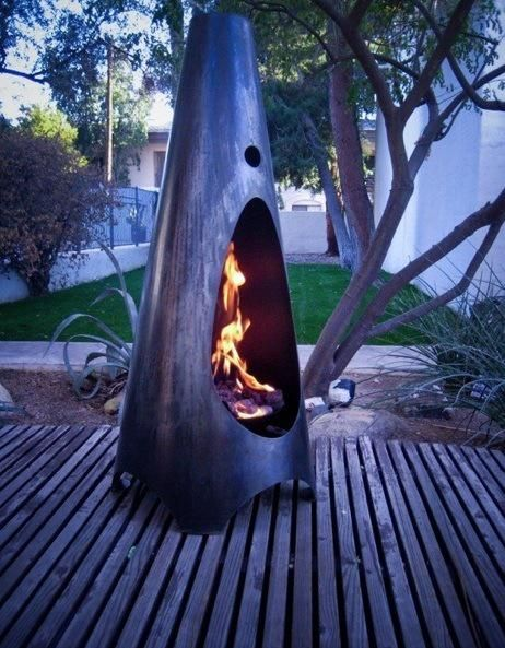 Outdoors: Modfire Outdoor Fireplaces : Remodelista