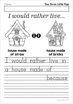 the three little pigs worksheets and activities opinion writing worksheets and activities. Black Bedroom Furniture Sets. Home Design Ideas