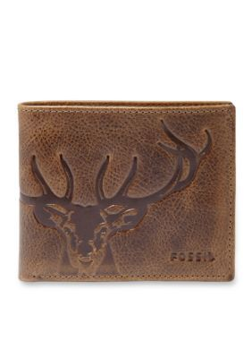 Fossil Brown Jack Bifold with Flip ID Wallet