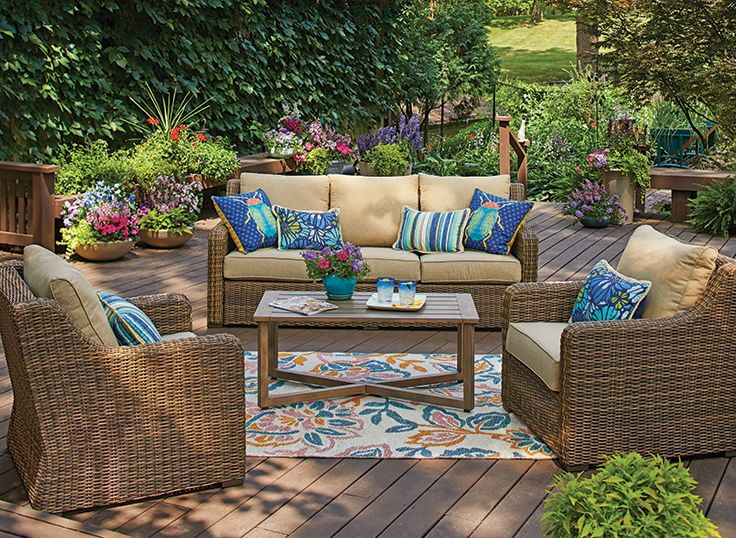 Patio Garden Patio Furnishings Porch Furniture Layout Buy