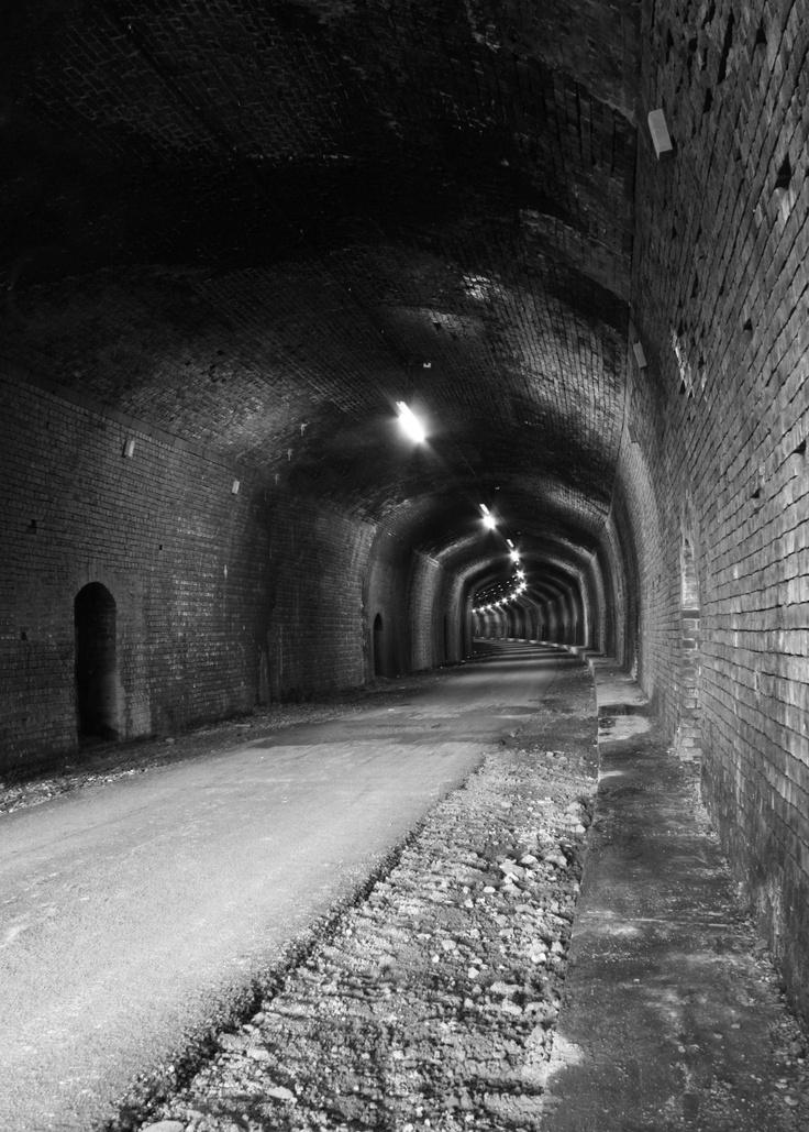 Headstone tunnel on the Monsal trail near Bakewell