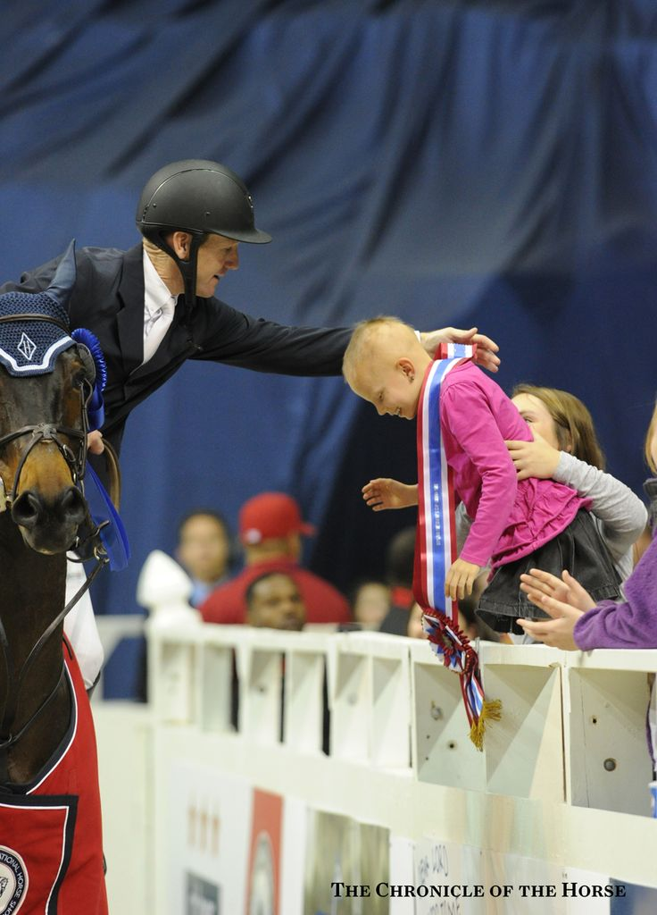 Here you go! McLain Ward gave his sash to 8-year-old Brooke Scalzi. Mollie Bailey photo
