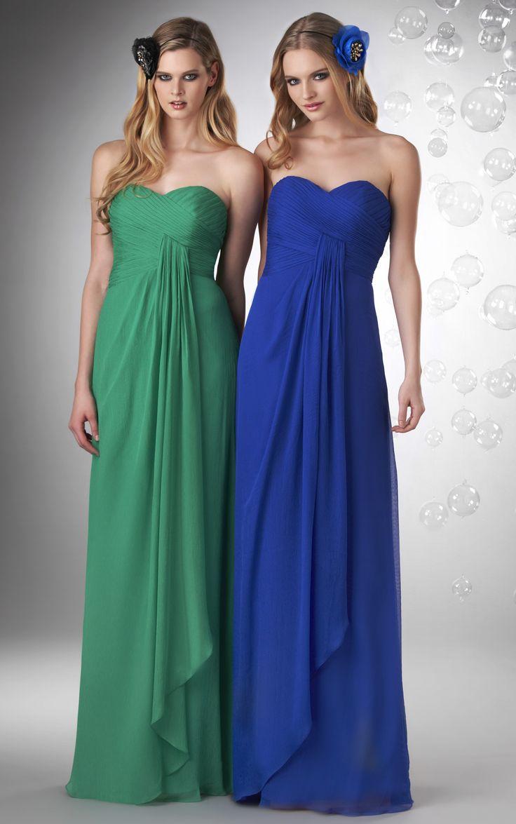 A-line #Zipper #Sweetheart Chiffon Sleeveless #Bridesmaid Dresses