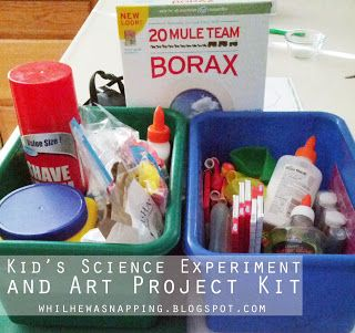 DIY Science Kit - dozens of experiments for little ones: While He Was Napping