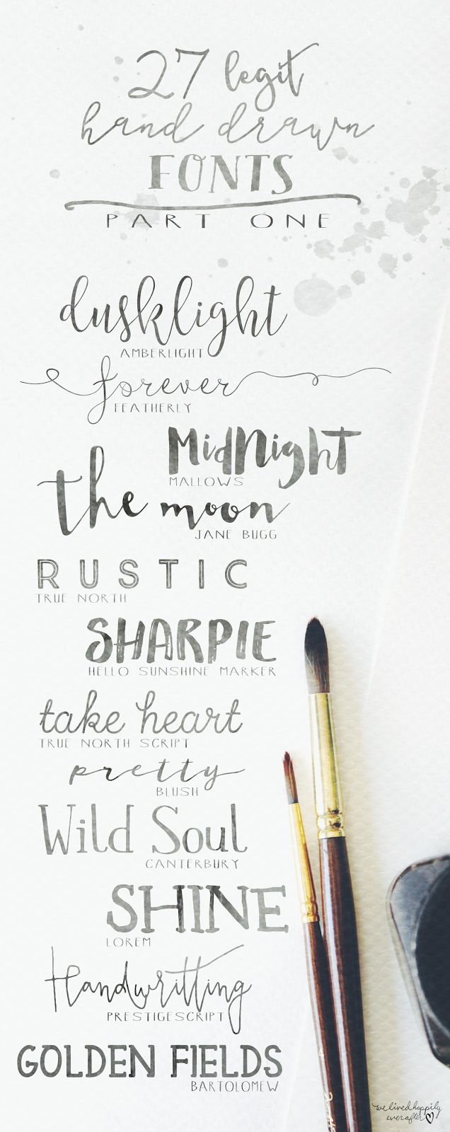 We Lived Happily Ever After: 27 Legit Hand Drawn Fonts | Part 1