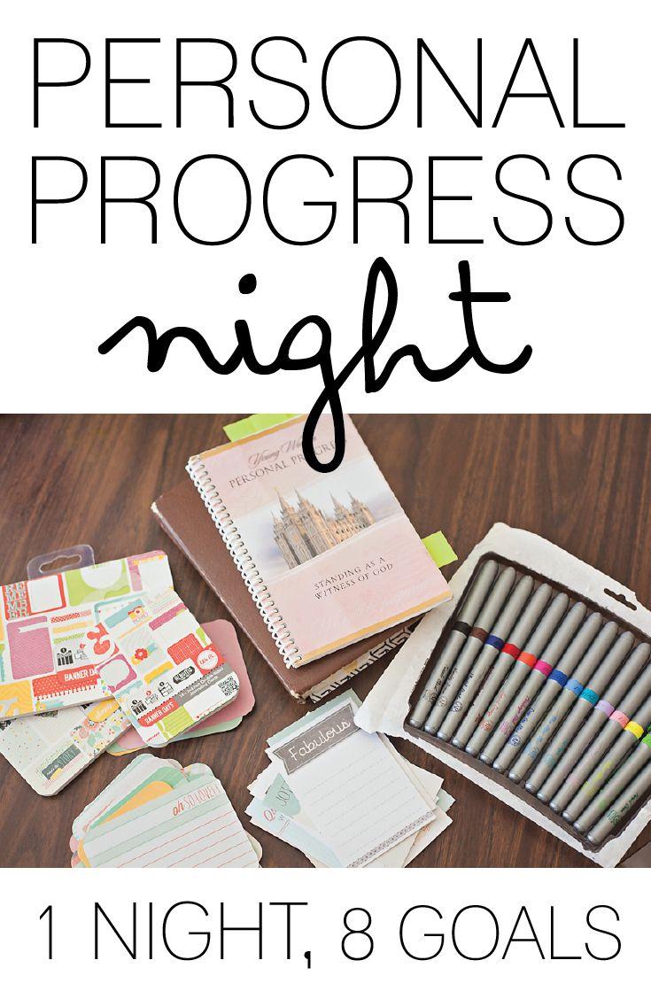 PERSONAL PROGRESS NIGHT: 8 GOALS IN 1 LDS, YOUNG WOMEN, PERSONAL PROGRESS…