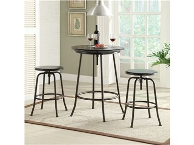 Shop For Anthony Of California Bar Set, And Other Bar And Game Room Tables  At Rosso Furniture In Gilroy, Morgan Hill, CA. Adjustable Height Pub Set  Black ...