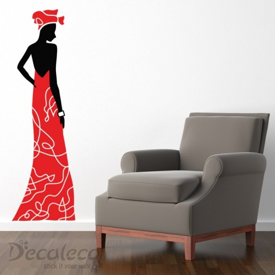African Lady - A pop of artistic color to any room. this African lady will add that touch of eclectic vibe to your room. www.decaleco.com #african_wall_decal #contemporary_wall_decal #urban_wall_decal #wall_art #giant_wall_decal