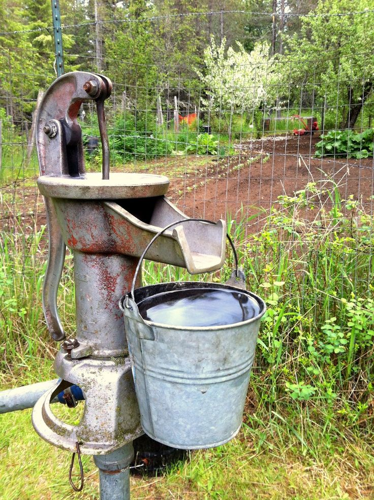 The water pump. Now I need the base and the old buckets.