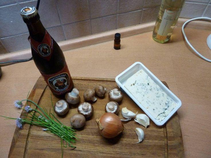 Biersauce mit Bier, Champignons und Sahne
