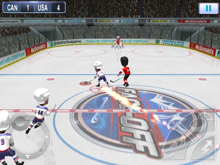 Ditch the rules and rip a slapshot past the goalie in this fun-filled 3 on 3 puckfest with exaggerated 3D visuals, 18 national teams and classic arcade gameplay from boosts to slow-mos.