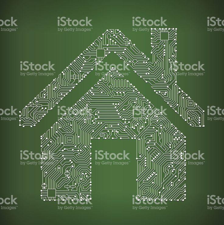 House Schaltkreis lizenzfreie Vektorgrafik Hintergrund Lizenzfreies vektor illustration