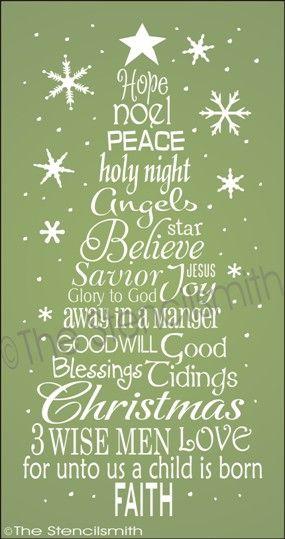 1862 Christmas Word Tree Faith Words Tree Christmas