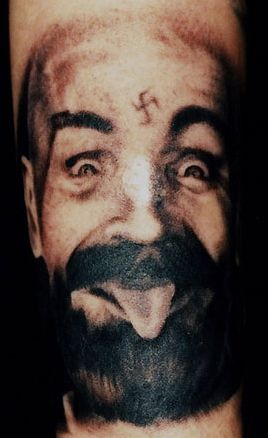 Charles manson portrait tattoo by phil colvin tattoo for Charles manson tattoos