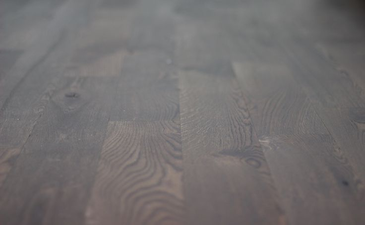 """Wire brush """"live sawn"""" 5"""" white oak hardwood flooring. With Ciranova's """"burnt oak"""" reactive stain and Loba's """"transparent"""" impact oil."""