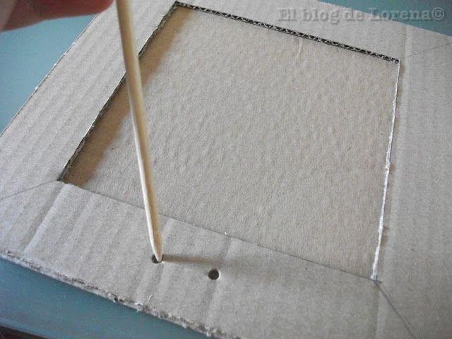 El blog de Lorenna: Marco de fotos con cartón y papel                                                                                                                                                      Más
