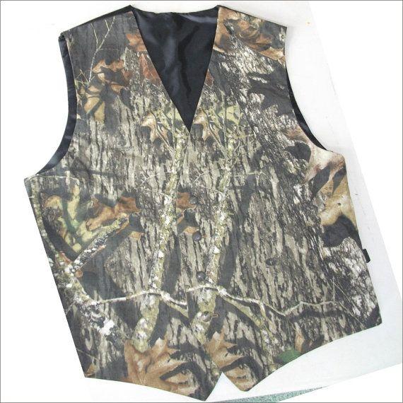 Camo vest mossy oak camouflage formal vests for the boys