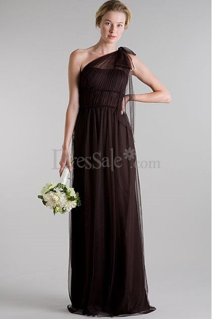 Hot Sell Bridesmaid Dress with Illusion One Shoulder Strap