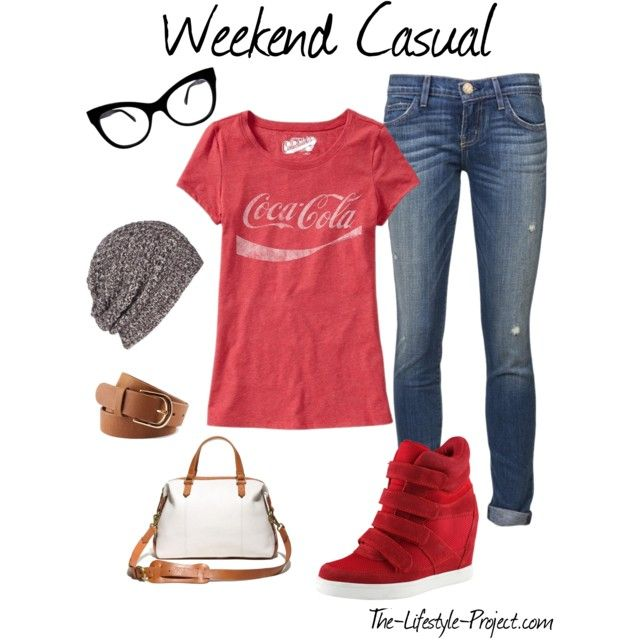 Spring Trend: Wedge Sneakers Cute weekend casual outfit
