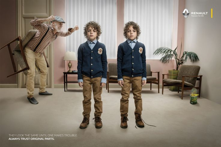 Renault: Evil Twin - Super glue prank They look the same until one makes trouble. Always trust original parts. Advertising Agency: Publicis, Buenos Aires, Argentina