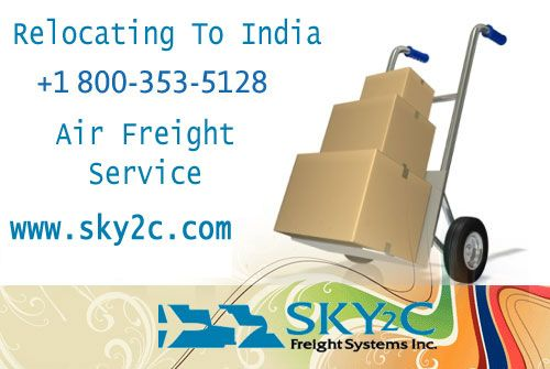 sky2c offers Affordable Freight Shipping and Air Freight Service to India from USA.