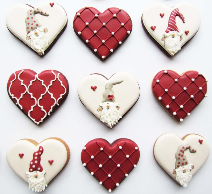 Best images about heart cookies on pinterest