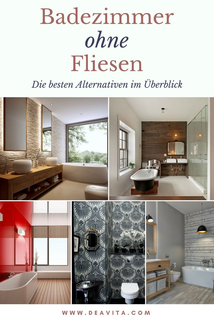 die besten 25 badezimmer ohne fliesen ideen auf pinterest. Black Bedroom Furniture Sets. Home Design Ideas