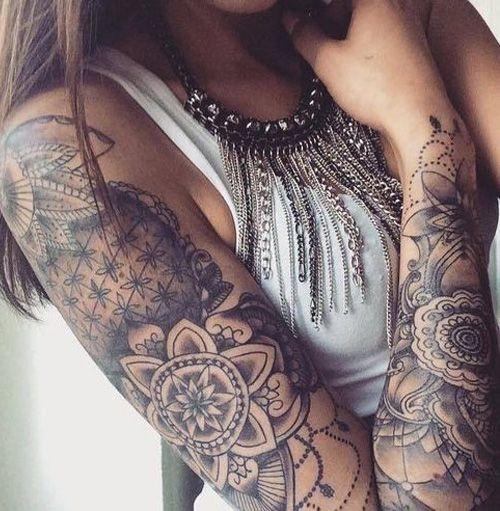 Wonderful Mandala Arm Tattoo Design