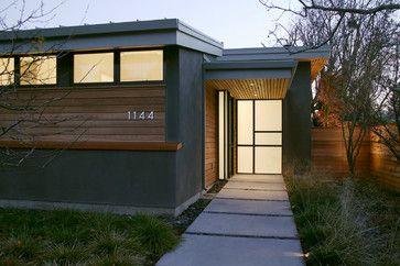 Modern Gray Stucco House Grey Stucco Design Ideas