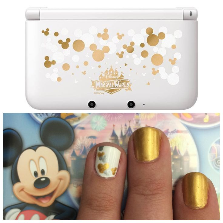 50 best nintendo nail art images on pinterest awesome get the look of the mickey edition nintendo 3ds xl using various sized dotting tools prinsesfo Gallery