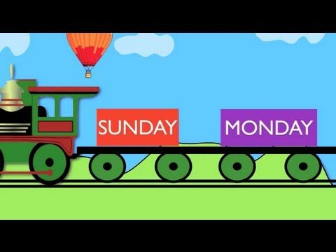Days of the week train - Learning for kids