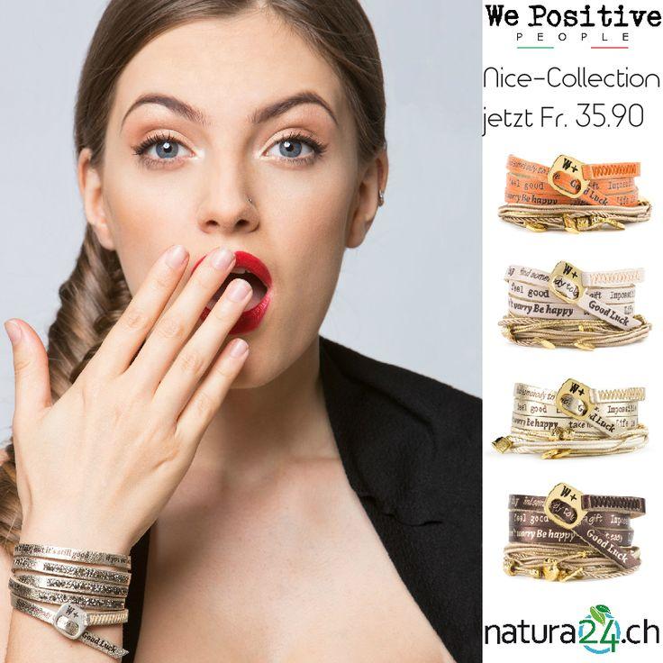 """We Positive """"Nice Collection"""". Coole, trendige Armbänder - sehr aufwendig mit kleinen Kordeln/Bändern und süssen Anhängern (Charmes) veredelt. 100% Handmade in Italy. Über 200 Motive jetzt im Creativa an der Pelzgasse 7 in Aarau verfügbar. Gehe #positiv in den Tag! #wepositive #wickelarmband #lederarmband #wrapbracelet #echtleder #armband #freundschaftsarmband #bracelets #fashionaccessory #musthave #mussichhaben #Lifestyle #happy #trend #present #positive #creativa #natura24ch #creativa1001"""