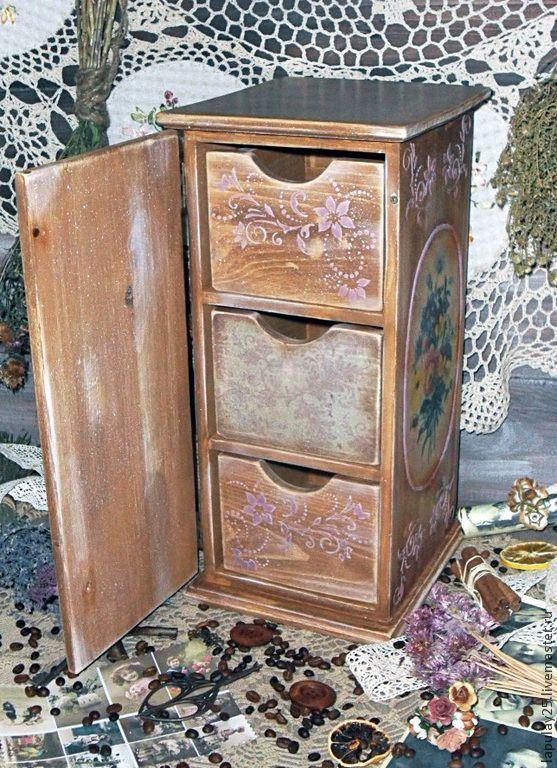 Купить комод Сиреневое Настроение - сиреневый, бледно-сиреневый, фиолетовый, комод, комод для украшений