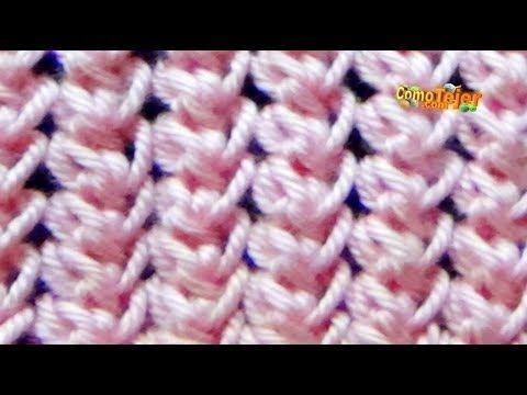 Dos Agujas: Punto calado cruzado, facil de tejer, para hacer motivos, bufandas o chalinas!! - YouTube
