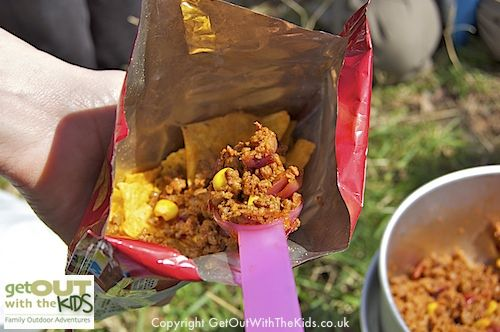 Tacos in a bag - Fun and easy to do when camping, or even on a day camp or picnic.