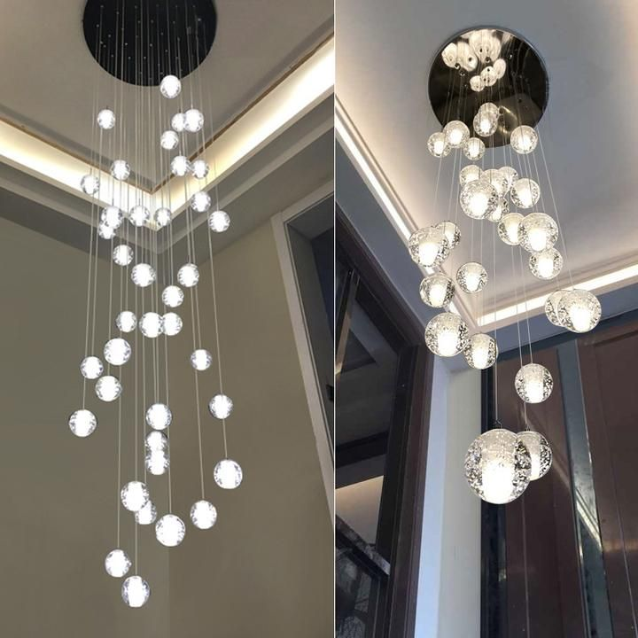 Crystal Bubbles Ball Chandelier Modern Hanging Glass Pendant Lights Fo Lighting Shopper In 2020 Glass Pendant Light Modern Chandelier Bubble Chandelier