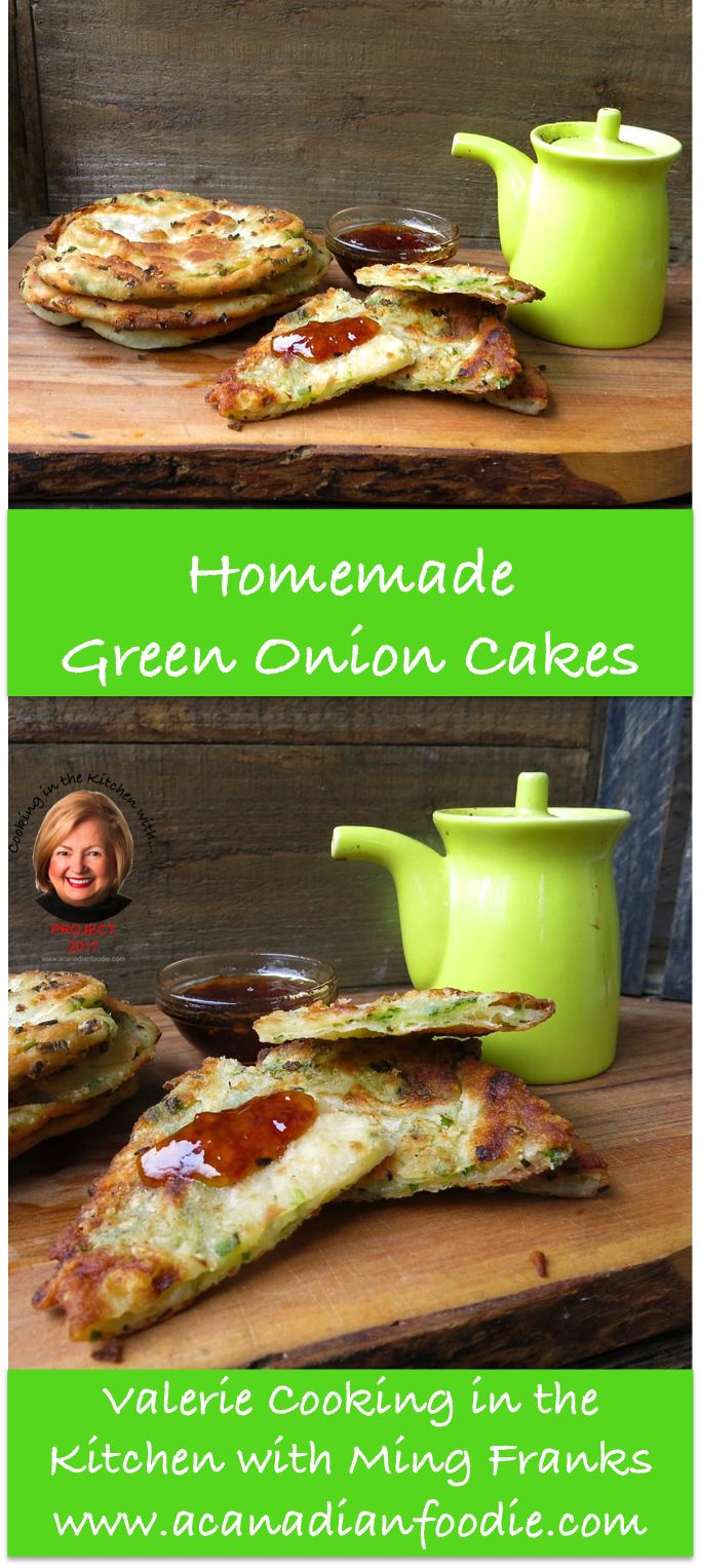 Cooking Homemade Green Onion Cakes in the Kitchen with Ming Franks! Edmonton's claim to fame: our incredible Green Onion Cake! Step by Step images included. #ACFValerieCookingwithYOU! www.acanadianfoodie.com via @acanadianfoodie