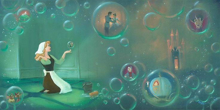 Rob Kaz - A Fairytale Life From Cinderella - Original Oil on Canvas - Disney Fine Art - Original Art