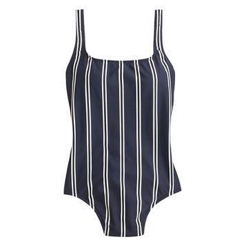 J.Crew Womens Double-Stripe Scoopback One-Piece Swimsuit