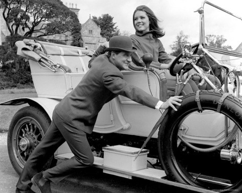 The Avengers-the original Mrs. Peel and John Steed