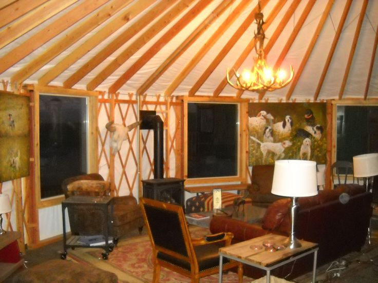 Www.shelterdesigns.net Cozy Den Around Woodstove In 30u0027 Shelter Designs Yurt .