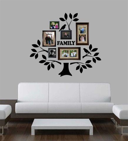 Виниловые Надписи Наклейка Графический Большой Family Tree комплект с филиалами Листья Птицы