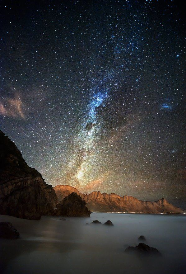 Photo of the Milky Way taken in Kogel Bay, Western Cape, South Africa