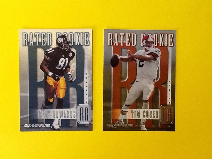 1999 DONRUSS LOT OF 2 TIM COUCH & TROY EDWARDS ALL NUMBERED