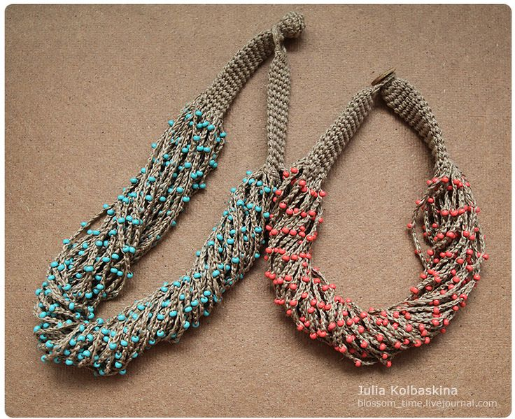 Crocheted necklaces | Flickr - Photo Sharing!