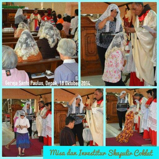 Misa Kudus dan Investitur Skapulir Coklat, di gereja Santo Paulus, Depok - Sabtu, 18 Oktober 2014