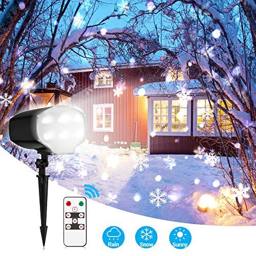 Christmas Projector Lights Outdoor White Snowflake Led Sn Https Www Amazon Com Dp B07fyhwvzy R With Images Laser Christmas Lights Christmas Projector Christmas Lights
