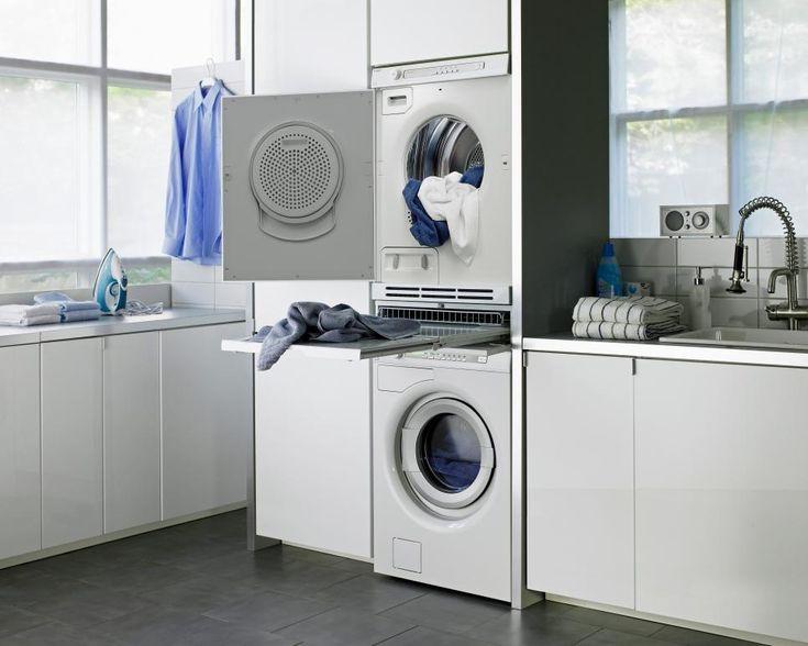 Las 25 mejores ideas sobre estante de lavadora secadora en pinterest encimera de lavadero - Rack lavadora secadora ...